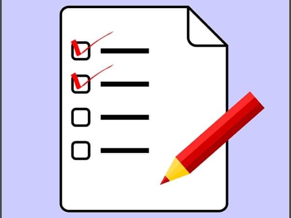 Rie checklist